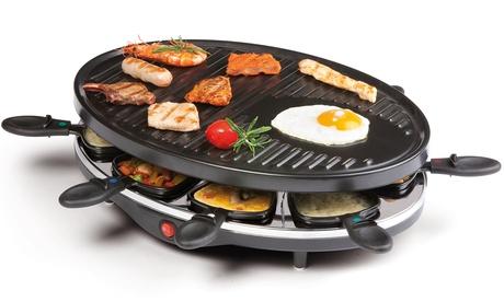 Grill y Raclette con doble resistencia para 8 personas