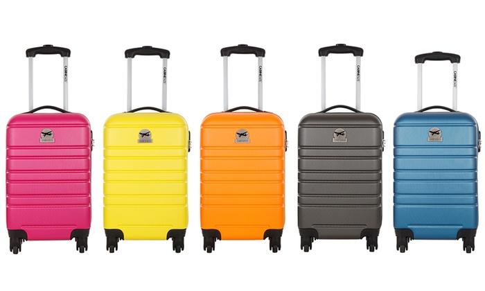 Valise cabine rigide 4 roulettes slotted floating decoy bag