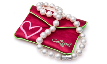 Genuine Shell Pearl Necklace or 3 Pairs of Shell Pearl Stud Earrings by Cali Gali; from $11.99—$19.99