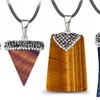 Genuine Gemstone Healing Pendants in 18K White Gold by Diane Lo'ren