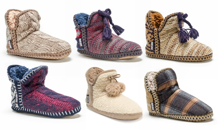 Women's MUK LUKS Amira Knit ... Bootie Slippers vwBWrbzV0y
