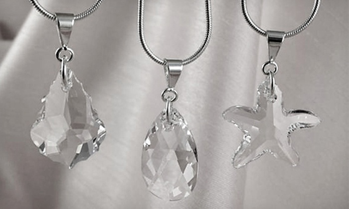 Silverland Jewelry - North Raleigh: $21 for a Teardrop, Starfish, or Baroque Swarovski Crystal Pendant from Silverland Jewelry ($42.97 Value). Shipping Included.