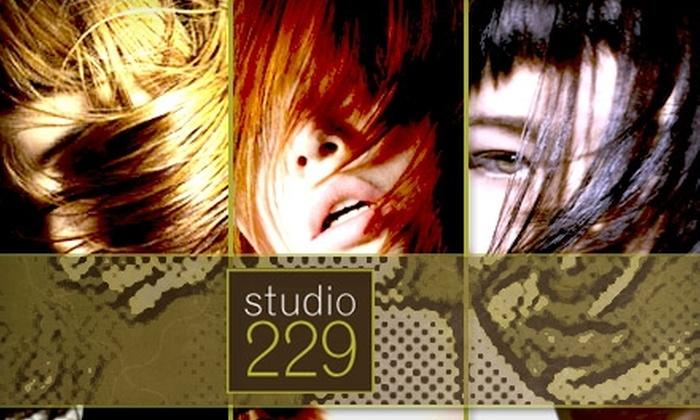 Studio 229 - Broadway: $75 Facial, Brow Wax, Haircut, and Deep-Conditioning Treatment at Studio 229 ($170 Value)