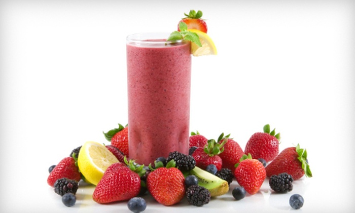 Skinny's Nutrition Studio - Multiple Locations: $12 for a Four-Visit Drink Package with an Energy Tea, Smoothie, and Aloe Shot at Skinny's Nutrition Studio ($24 Value)