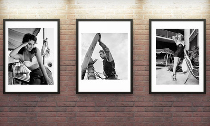 """Capital Art: One or Five 11""""x17"""" Black-and-White Lithographs of Hollywood Icons by Frank Worth from Capital Art (Up to 90% Off)"""