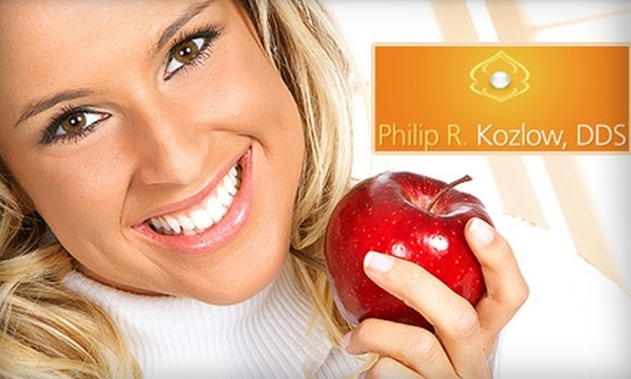 Philip Kozlow DDS - Addison: $49 for a Full Dental Cleaning, Exam, X-Rays, and Custom-Fit Tray-Whitening Kit from Dr. Philip Kozlow, DDS (Up to $568 Value)