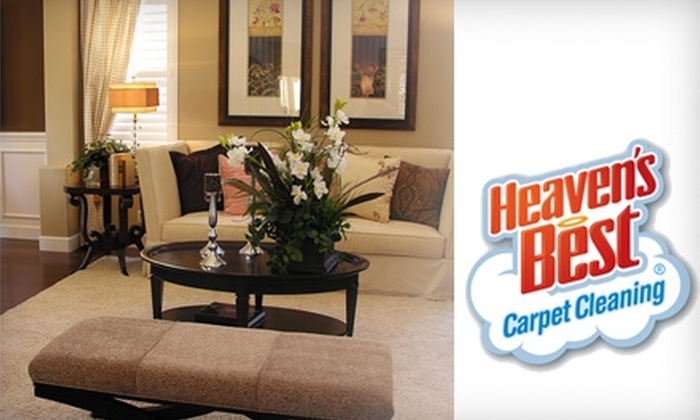 Heaven's Best Carpet Cleaning - Richmond: $49 for Carpet Cleaning for Three Rooms ($168 Value) or $139 for Carpet Cleaning for Entire House ($420 Value)
