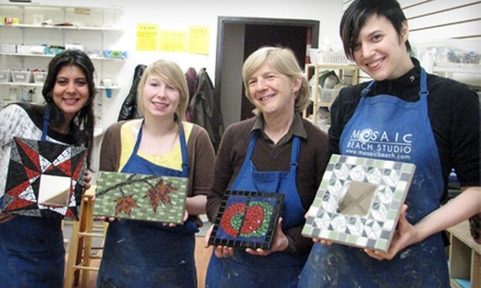 Mosaic Beach Studio - Port Lands: $39 for an Intro to Mosaic Art Class at Mosaic Beach Studio ($79.10 Value)