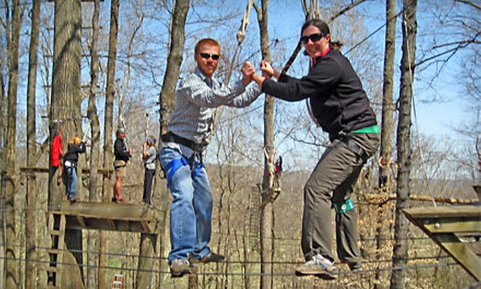 Adventureworks - Nashville: $70 for Ropes-Course Adventure for Two on the High Course Challenge from Adventureworks in Kingston Springs ($130 Value)