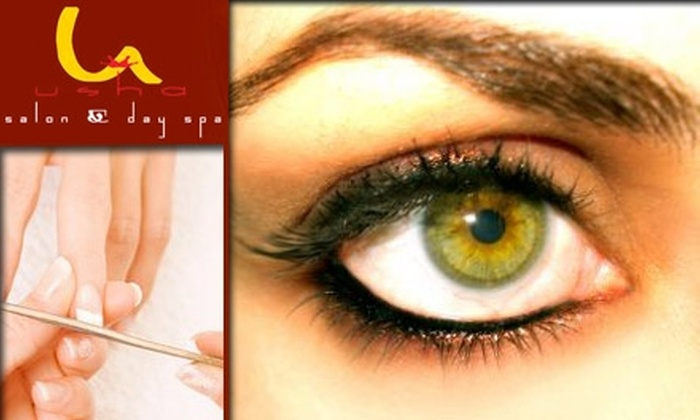 Usha Salon and Day Spa - Riverside: $7 for Eyebrow Threading or a Manicure at Usha Salon and Day Spa in Federal Hill