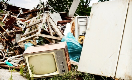 Removal of 1/8, 1/4, or 1/2 Truckful of Junk from Canada Junk Removal (Up to 55% Off)