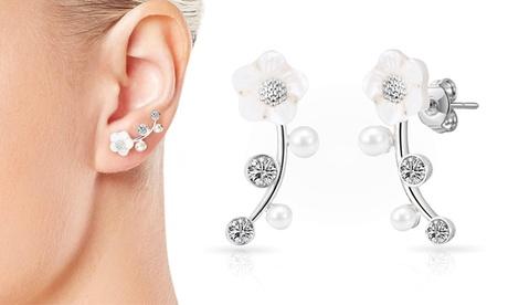 1 o 2 pares de pendientes con cristales de Swarovski® y perlas Philip Jones