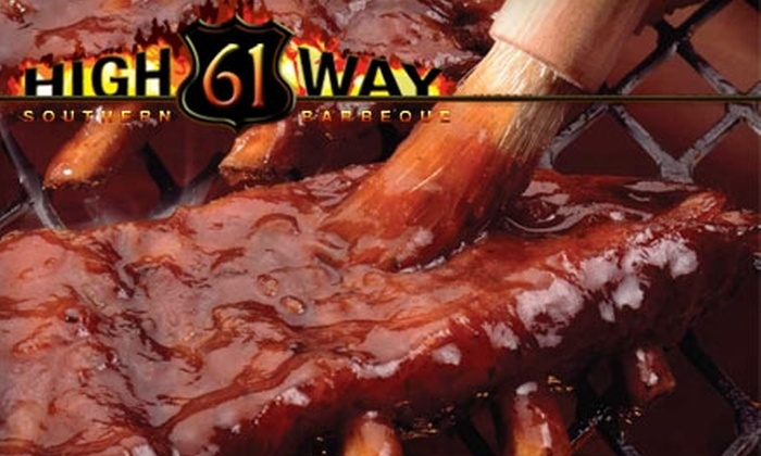 Highway 61 Southern Barbeque - Davisville: $15 for $30 Worth of Barbeque at Highway 61 Southern Barbeque