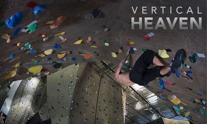 Vertical Heaven Climbing - San Buenaventura (Ventura): $30 for a One-Month Individual Membership to Vertical Heaven Climbing ($65 Value)