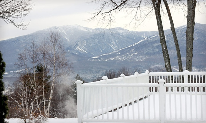 Sunset Hill House Inn - Sugar Hill: Ski-and-Stay Package for Two with Trail Passes and Ski Rentals at Sunset Hill House Inn in New Hampshire
