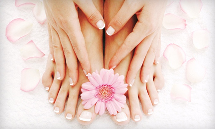 LV Nails - Belleair Oaks: One or Three Deluxe Mani-Pedis at LV Nails in Largo (Up to 56% Off)