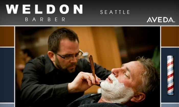 Weldon Barber - Multiple Locations: $30 for a Men's Haircut and Hot Shave at Weldon Barber (Up to $66 Value)