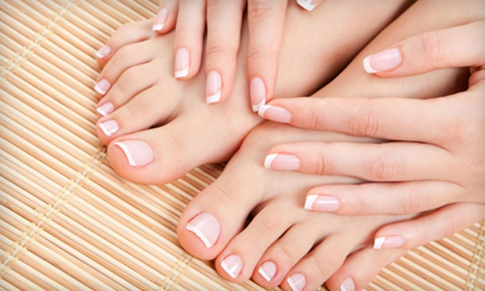 Patty with Destinations Salon and Spa - Wildcreek: Spa Mani-Pedi or New Set of Gel or Acrylic Nails at Destinations Salon and Spa in Sparks (Up to 54% Off)