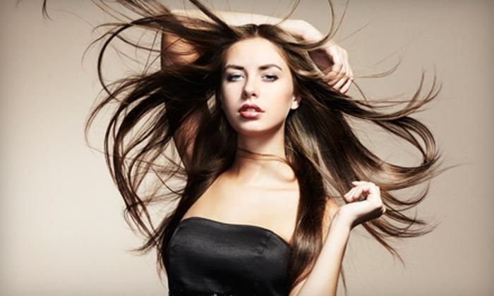 Atomic April's Glam Salon - Summerlin: Airbrush Makeup, Glamorous Hair-Enhancement Package, or Both at Atomic April's Glam Salon (Up to 65% Off)
