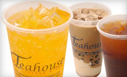 Groupon for $20 Gift Card for Teas, Coffees, Tapiocas, and Juices - The Teahouse Tapioca and Tea in Houston