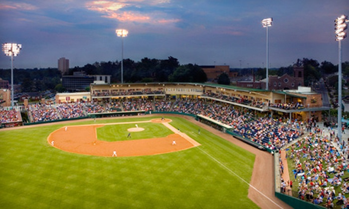 Greenville Drive - West End: Greenville Drive Baseball Outing for Two or Four. Four Options Available.