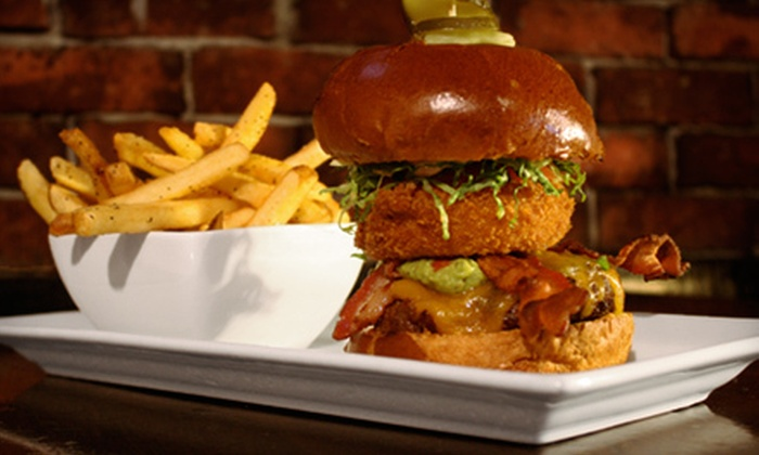 Displace Hashery - Kitsilano: $17 for a Two-Course Pub Fare Meal for Two at Displace Hashery (Up to $38 Value)
