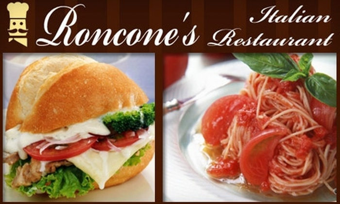 Roncone's - Brown Square: $7 for $15 Worth of Traditional Cuisine at Roncone's Italian Restaurant