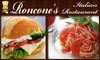 Roncone's Italian Restaurant - Brown Square: $7 for $15 Worth of Traditional Cuisine at Roncone's Italian Restaurant