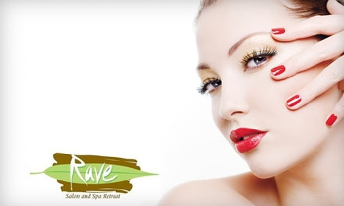 Rave Salon and Spa Retreat - Millard: $30 for Spa Mani-Pedi ($65 Value) or $40 for Facial, Deep-Conditioning Treatment, and Style (Up to $105 Value) at Rave Salon and Spa Retreat