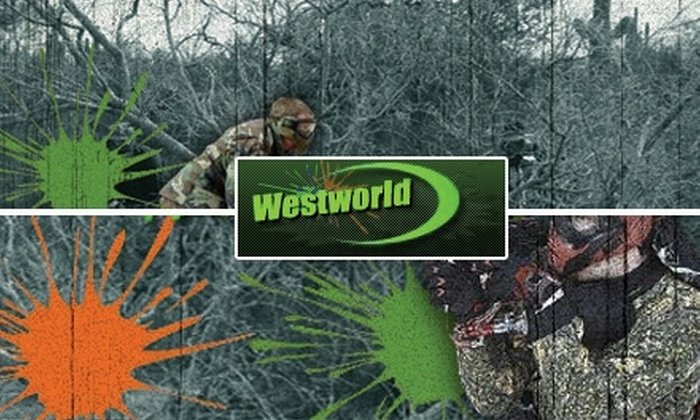 Westworld Paintball Adventures - Multiple Locations: $28 for One Admission, Equipment, and 500 Paintballs at Westworld Paintball Adventures