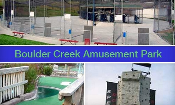 Boulder Creek Amusement Park - Millard: $10 for $20 Worth of Mini Golf, Batting Cages, and More at Boulder Creek Amusement Park