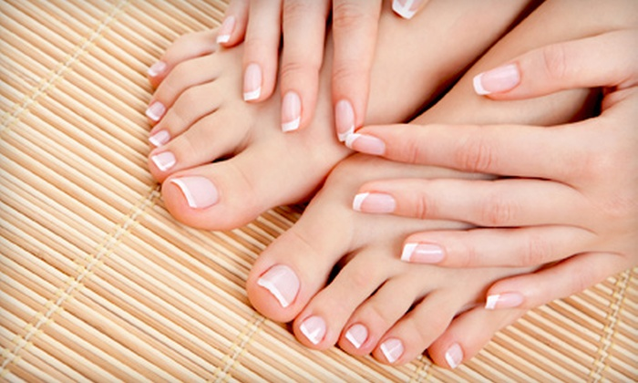 L'amour Nails - Constellation Pointe: Mani-Pedi or Mani-Pedi and Massage Package for One or Two at L'amour Nails in League City (Up to 53% Off)