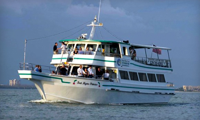 "Fort Myers Princess - Fort Myers Beach: $25 for a Boat Tour for Two Aboard ""The Fort Myers Princess"" in Fort Myers Beach"