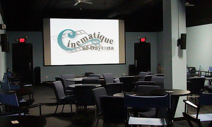 Cinematique - Daytona Beach: Movie Night for Two or Four with Candy, Appetizers, and Beer, Wine, or Soft Drinks at Cinematique (Up to 51% Off)