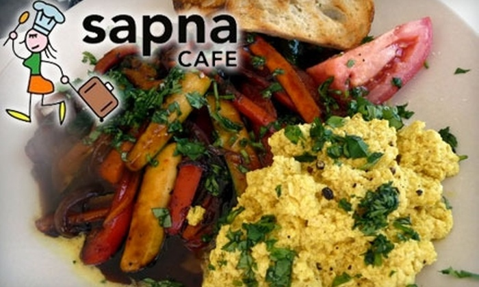 Sapna Cafe - Phoenix: $7 for $15 Worth of Healthy Seasonal Fare and Drinks at Sapna Cafe