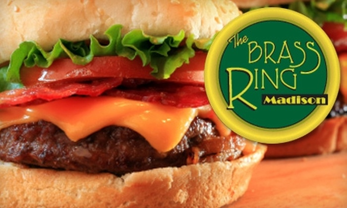 The Brass Ring - Marquette: $10 for $20 Worth of Casual Dining, Drinks, and Billiards at The Brass Ring