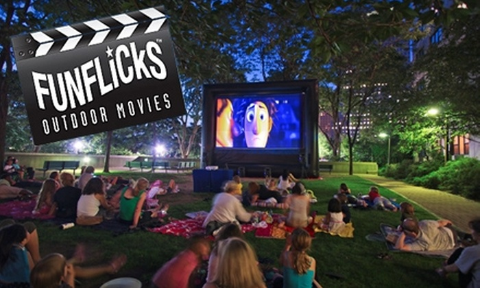 FunFlicks Outdoor Movies - Austin: $99 for an Outdoor Movie Party Rental from FunFlicks Outdoor Movies ($411.25 Value)