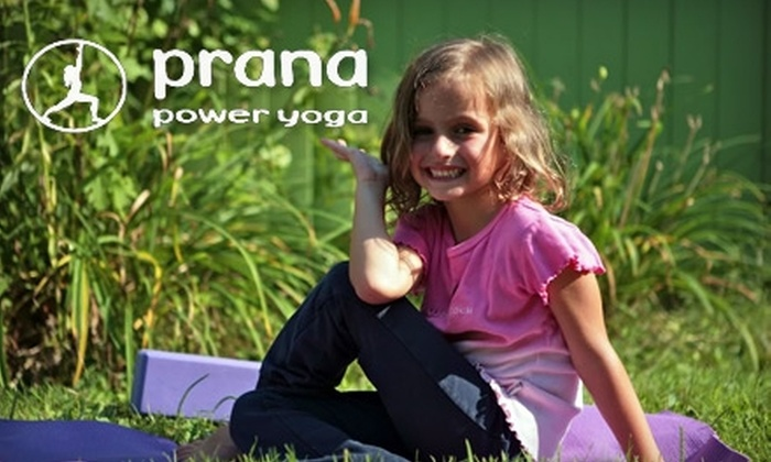 Prana Power Yoga - Multiple Locations: $30 for Five Kids' Classes at Prana Power Yoga ($75 Value)