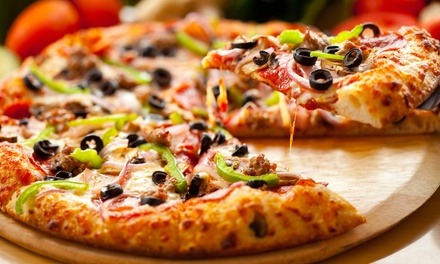 Pizza Combos with Optional Bread Sticks or Wings at Jumbo Pizza (Up to 52% Off). Four Options Available.
