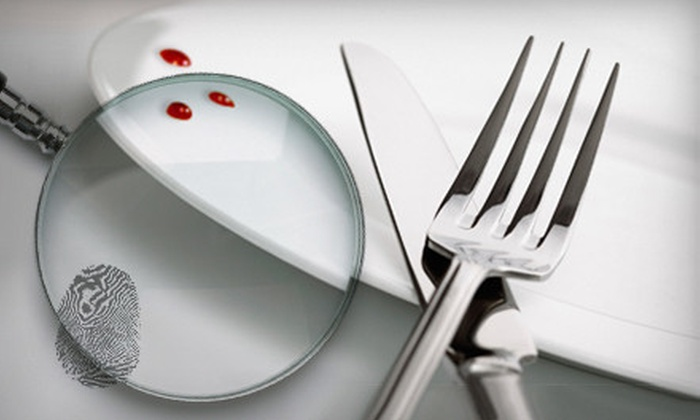 The Dinner Detective - Downtown Portland: $79 for a Murder-Mystery Dinner for Two with Commemorative Mugs from The Dinner Detective (Up to $167.80 Value)