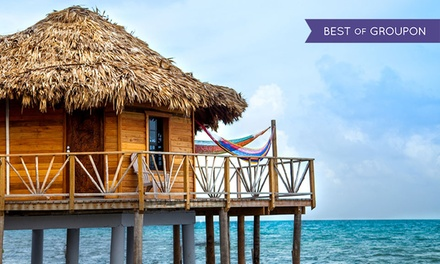 3- or 5-Night Stay for Two with Rest and Relaxation Package at Thatch Caye Resort in Belize. Combine Multiple Nights.