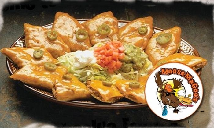 Moose Magoo's - Lubbock: $7 for $14 Worth of Sandwiches, Pizza, Burgers, and More at Moose Magoo's