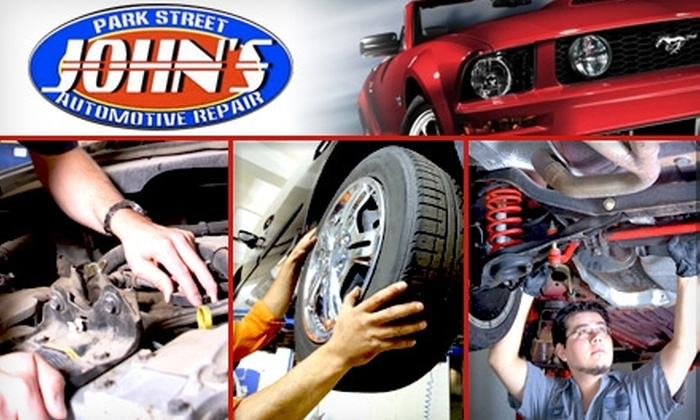 John's Park Street Automotive Repair - Brooklyn: $14 for an Oil Change, 17-Point Inspection, and Tire Rotation from John's Park Street Automotive Repair