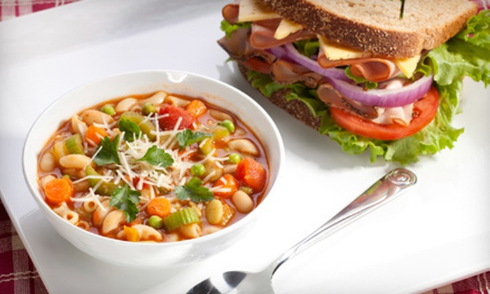 Poppinjay's Cafe - Multiple Locations: Café Fare or Catering Services at Poppinjay's Cafe (Half Off)