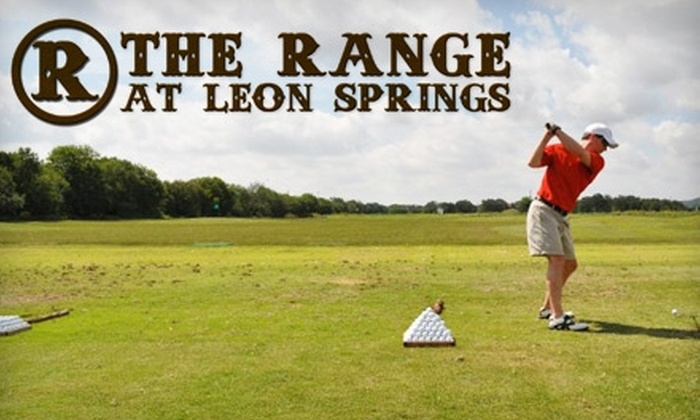 The Range at Leon Springs - Northwest Side: $25 for Five All-Day Driving Range Passes with Unlimited Balls ($75 Value) or $25 for a $50 Gift Card to The Pro Shop at The Range at Leon Springs in Boerne