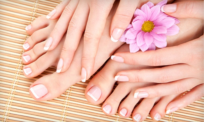 Diamonds & Pearls Nails & Spa - Northwest Nashville: Men's or Women's Mani-Pedi at Diamonds & Pearls Nails & Spa (Up to 51% Off)