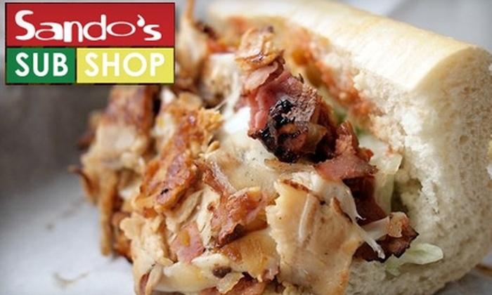 Sando's Sub Shop - Manhattan Beach: $6 for $12 Worth of Sandwiches and More at Sando's Sub Shop in Manhattan Beach
