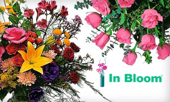 In Bloom Flowers - Multiple Locations: $40 Worth of Floral Arrangements from In Bloom Flowers