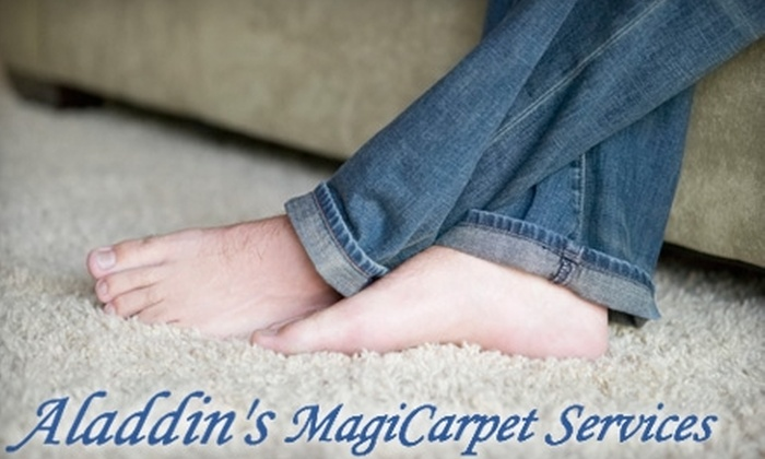 Aladdin's MagiCarpet - Lubbock: $29 for Two Rooms of Carpet Cleaning from Aladdin's MagiCarpet