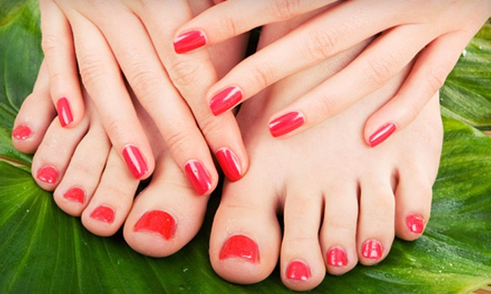Nail Logic Institute - Dobson Woods: $17 for a Gel Manicure and Spa Pedicure at Nail Logic in Mesa ($35 Value)